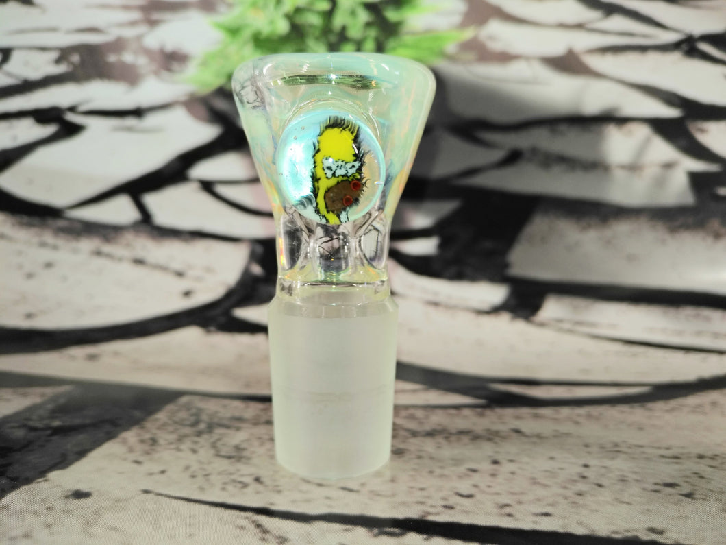 LSD Homer Simpson Bowl 18mm by Al Gore Glass
