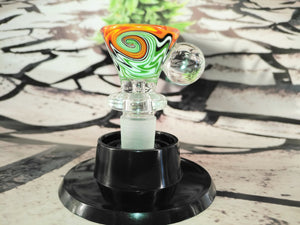 Orange Multi Colour Bowl 14mm by OG Original