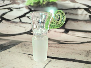 Green Cat Tail Bowl 14mm by Al Gore Glass