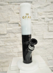Black/White Straight Bong by GEAR Premium