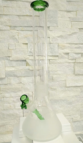 Green/Frost Beaker Bong by ONE-OFF