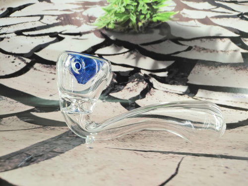 Clear/Blue Stand Up Pipe by OG Original