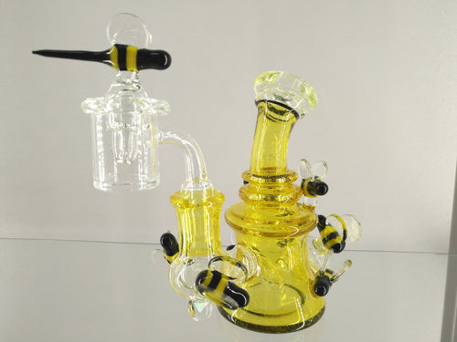 Big Bee Hive Dab Rig w/ Banger & Carb Cap by Jesse Briggs