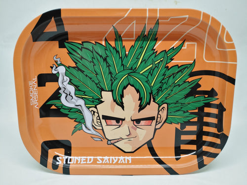 Stoned Saiyan Metal Rolling Tray - Small
