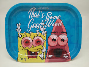"SpongeBob & Pat ""Good Weed"" Metal Rolling Tray - Small"