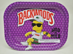 Bart Simpson Backwoods Metal Rolling Tray - Small