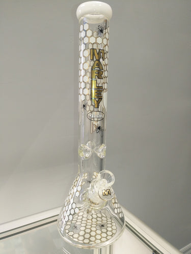Bee Hive 14mm Beaker Bong by Marley Glass