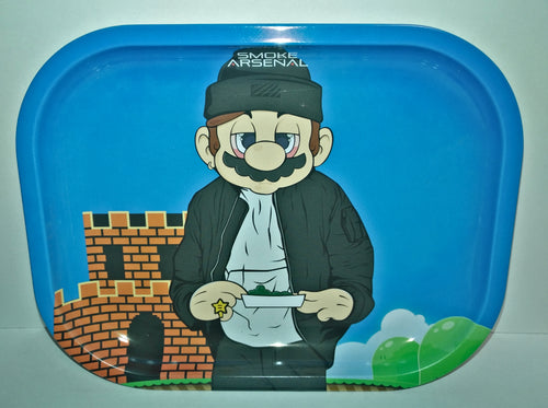 Super High Mario Metal Rolling Tray - Small