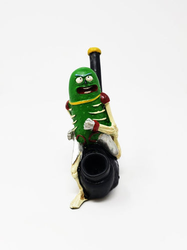 Robot Pickle Rick Smoking Pipe
