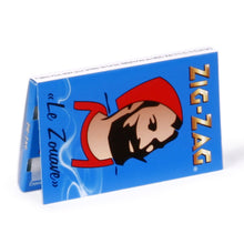 "Load image into Gallery viewer, Zig Zag Blue Le Zouave 1""1/4 Rolling Papers"