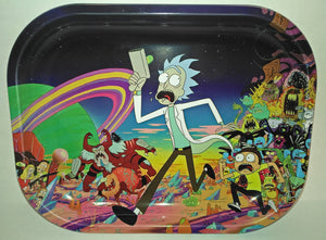 The Rick & Morty Universe Metal Rolling Tray - Small