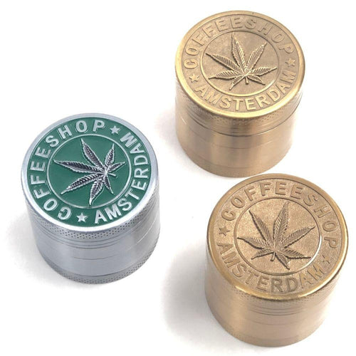 Amsterdam Coffee Shop 4 Piece Grinder (Variant Colours)