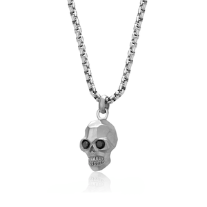 Stainless Steel Matte Skull Necklace by ITALGEM