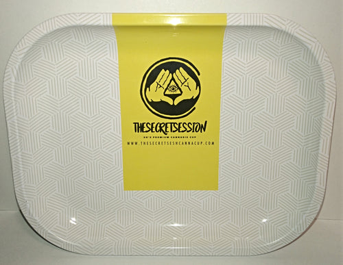 The Secret Session Canna Cup Metal Rolling Tray - Small