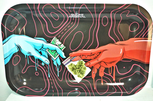 Send That Ish Metal Rolling Tray - Medium