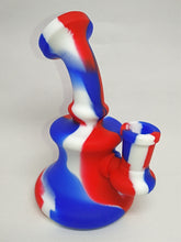 Load image into Gallery viewer, Silicone Dab Rig (Red/White/Blue)