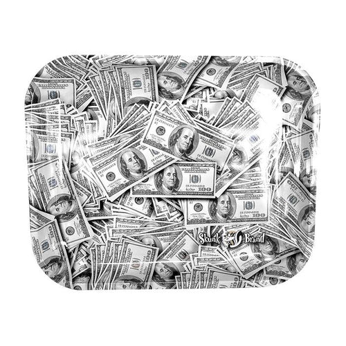 Cash Money Benjamins Large Metal Rolling Tray by Skunk Brand