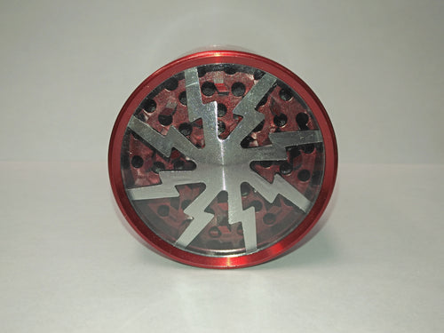 Clear Top Lightning Red Grinder