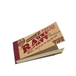 RAW Perforated Wide Hemp Tips