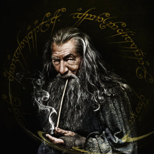 Gandalf Glass Dab Pipe 10mm by Starfish Deisgns