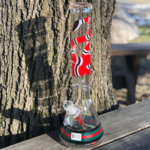 "Load image into Gallery viewer, Gucci 16"" Beaker Bong by Marley Glass"