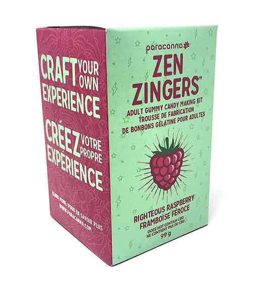 Zen Zingers Righteous Raspberry Gummy Candy Making Kit