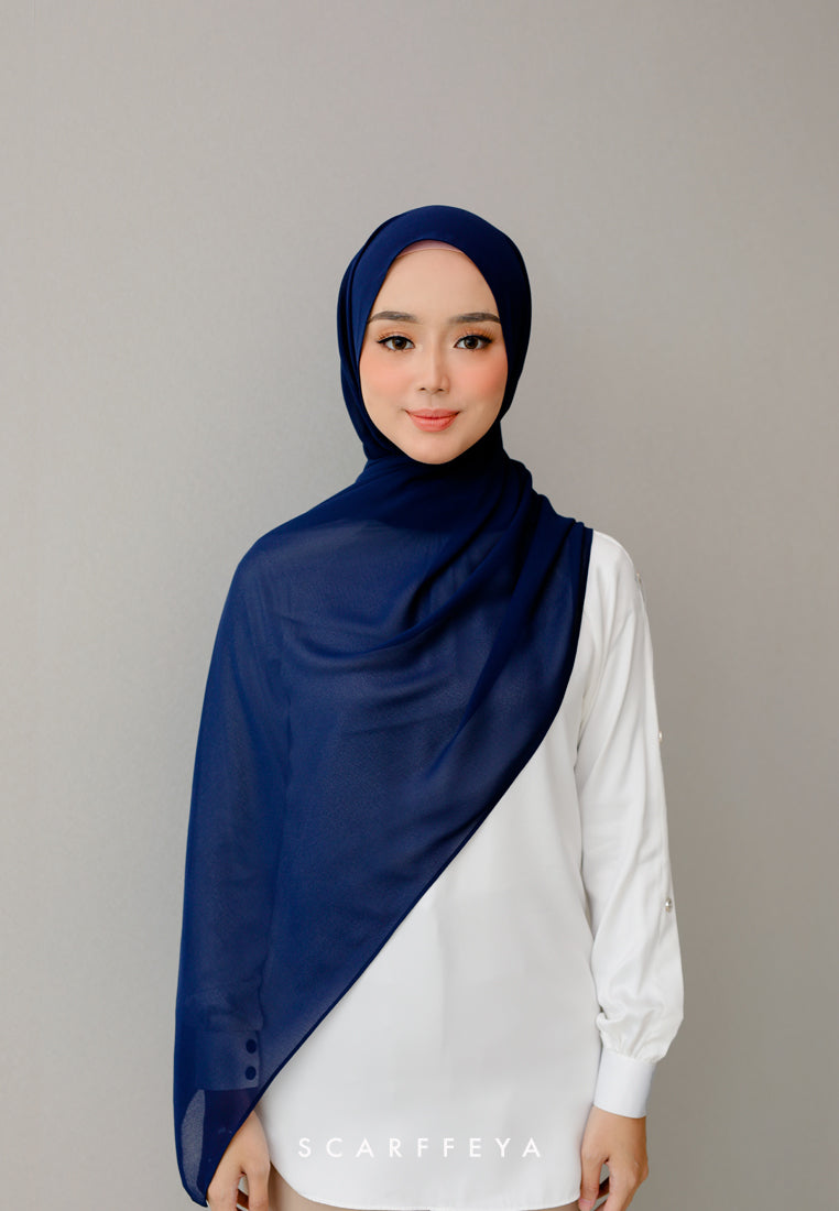Puteri Shawl 2021 (Navy Blue)