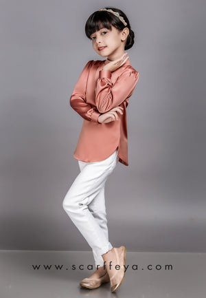 WAFA EXECUTIVE BLOUSE KIDS 2019 (CORAL PEACH)