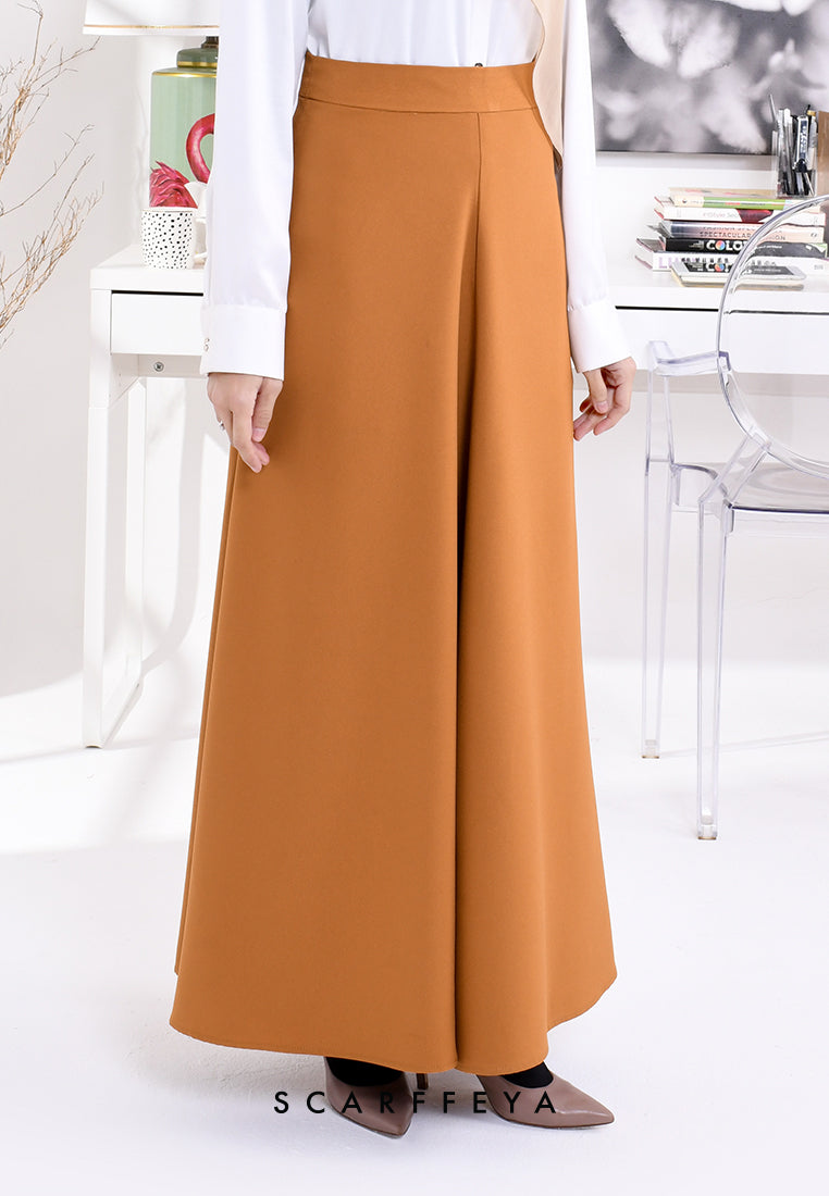 NEA (MUSTARD BROWN) EXECUTIVE SKIRT