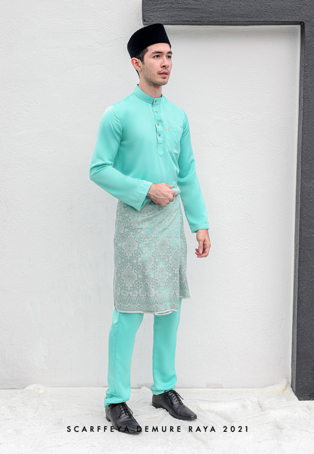 ZEYDAN MINT GREEN LUXE SLIM FIT
