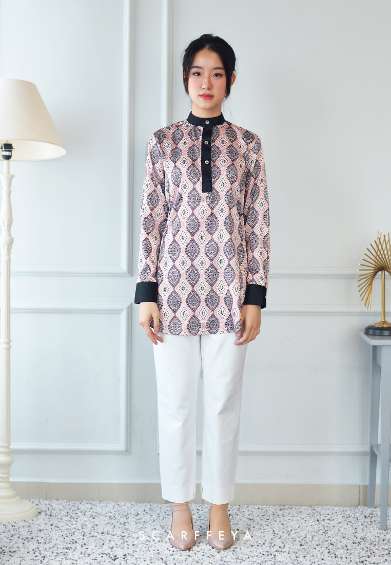 QASYA BLOUSE ROSE METALIC