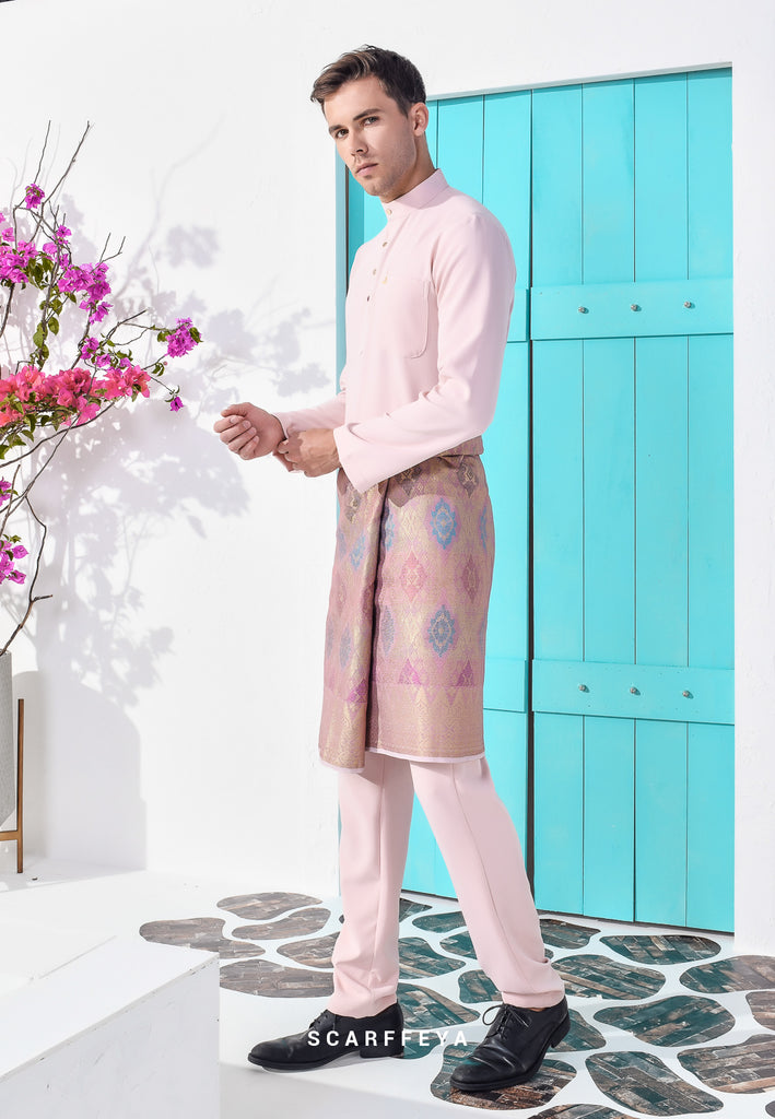 ZEYDAN DUSTY PINK LUXE SLIM FIT (RM189)