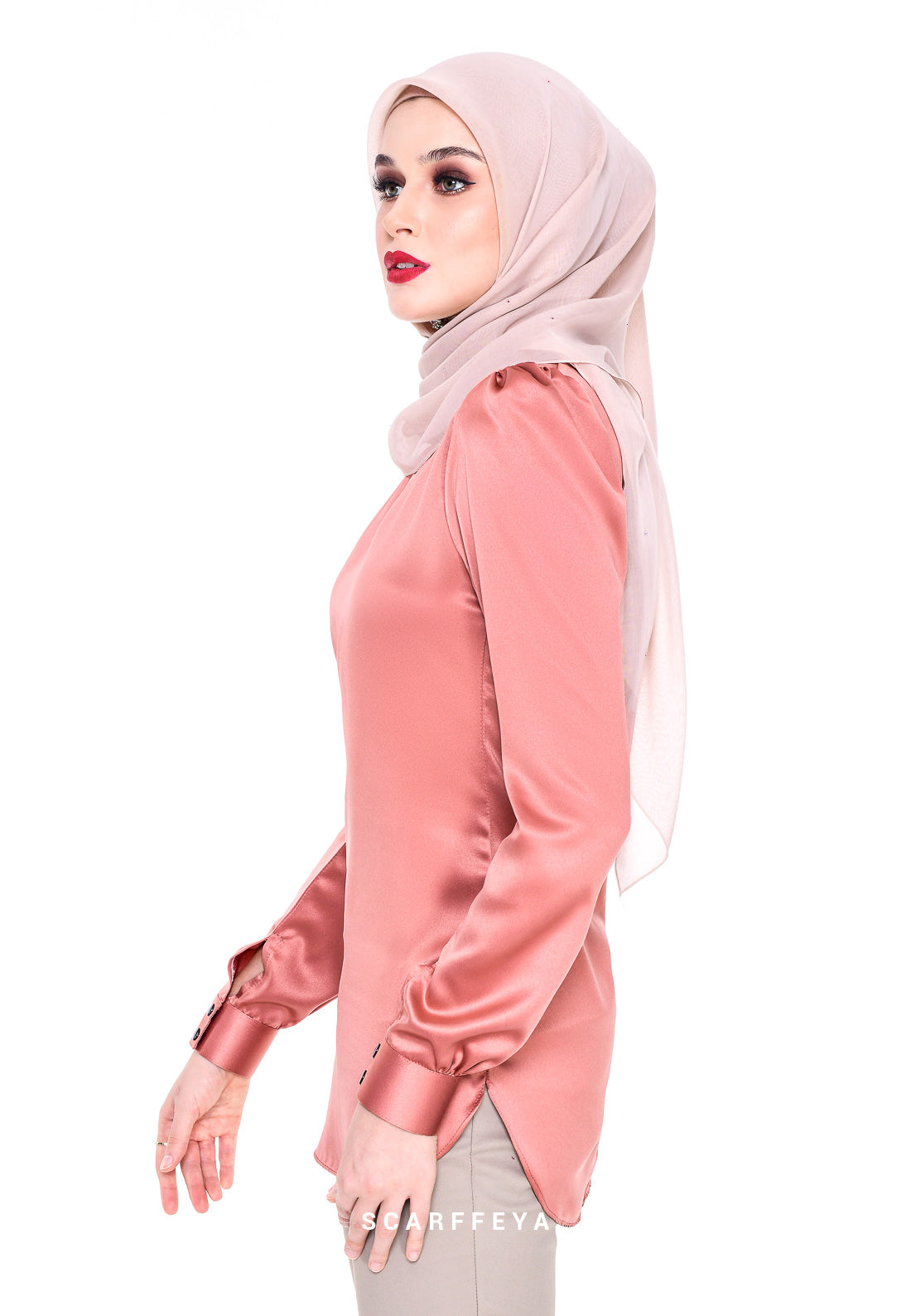 WAFA (CORAL PEACH) EXECUTIVE BLOUSE