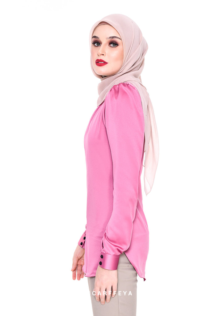 WAFA EXECUTIVE BLOUSE (BLUSH PINK)
