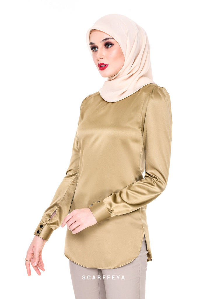 WAFA EXECUTIVE BLOUSE (BRONZE GOLD)
