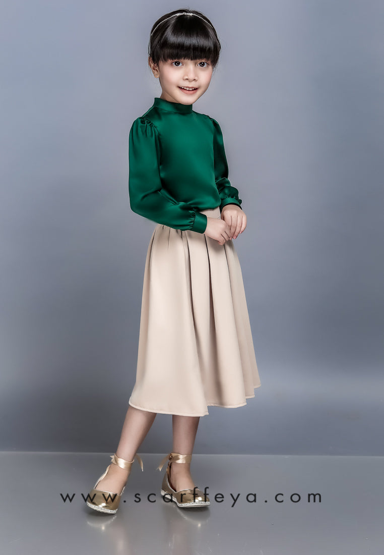 WAFA EXECUTIVE BLOUSE KIDS (EMERALD GREEN)