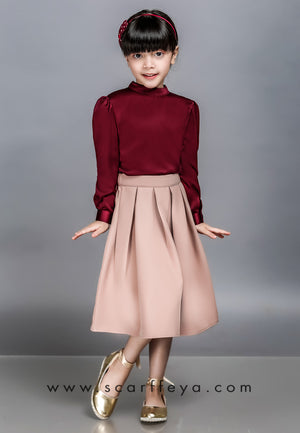 WAFA EXECUTIVE BLOUSE KIDS 2019 (BURGUNDY MAROON)