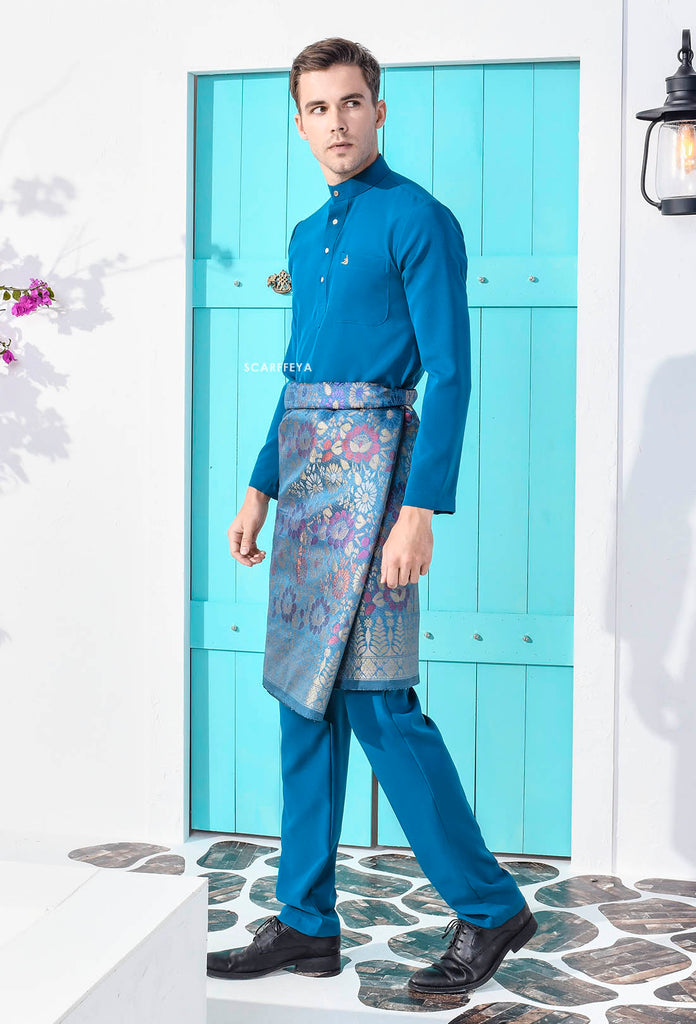 ZEYDAN EMERALD BLUE LUXE SLIM FIT (RM189)