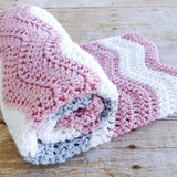 Handmade baby girl coming home blanket, Design by AW