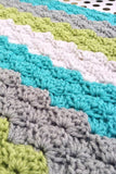 [crochet-baby-blanket] - Design by AW