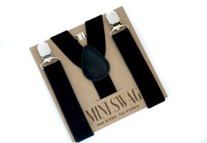 Mini Swag Textiles - Black Suspenders