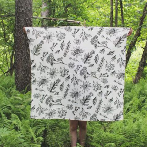 Young and Free Apparel - Swaddle Blanket - Wild Flowers