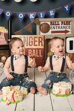 Load image into Gallery viewer, Mini Swag Textiles - Navy Blue Boys Suspenders