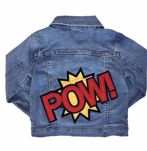 Wee Monster - Red POW Patchwork Denim Jacket