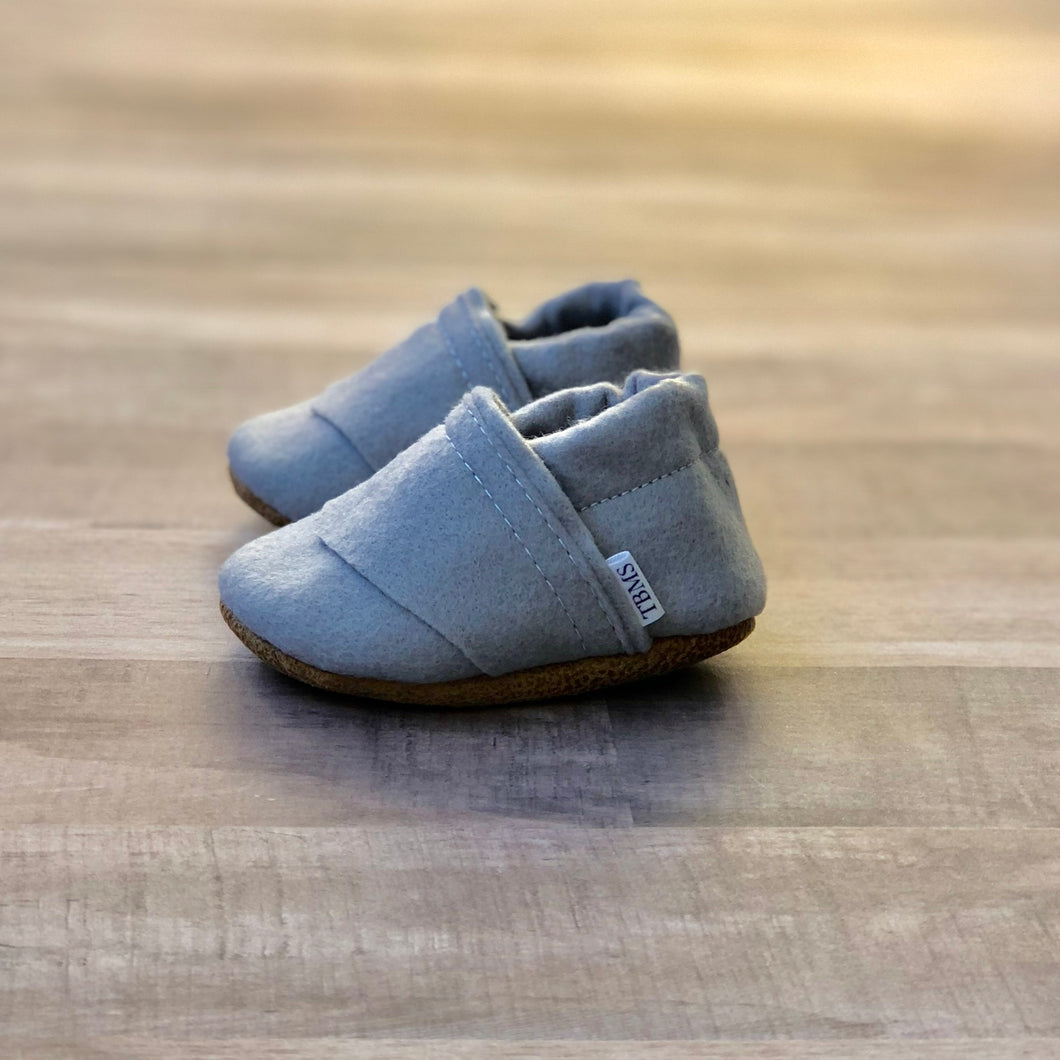 Trendy Baby Mocc Shop - Stone Felt Loafers
