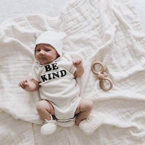 BE KIND - Organic & Cotton Colors Onesie / Black Ink