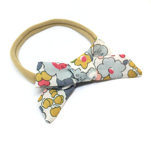 The Tiny Bow Shop - Blue and Mustard Dainty Hair Bow