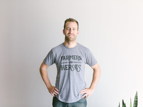 The Oyster's Pearl - Farmers Are Heroes Adult Tee