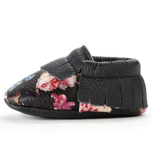 BirdRock Baby - Wildflower Genuine Leather Baby Moccasins
