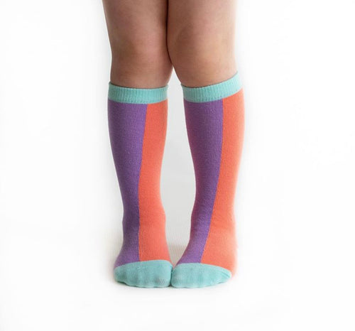 Color block Knee High